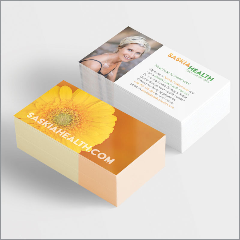 Saskia Health - Visitkort