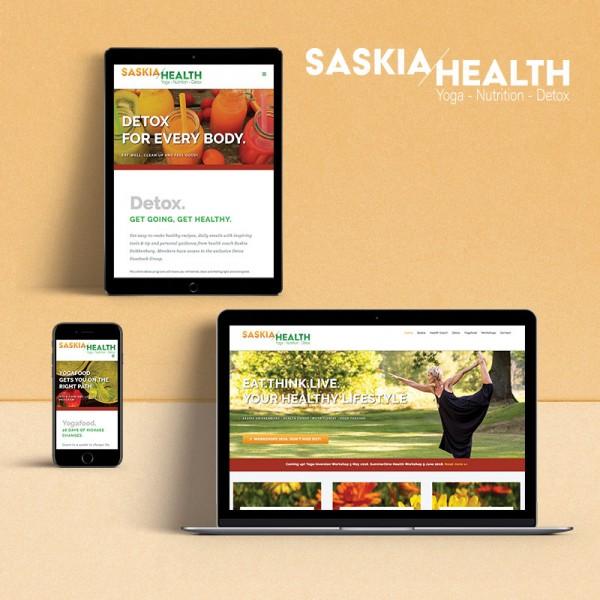 Saskia Health - Hemsida