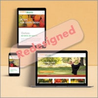 Saskia Health - Redesign hemsida