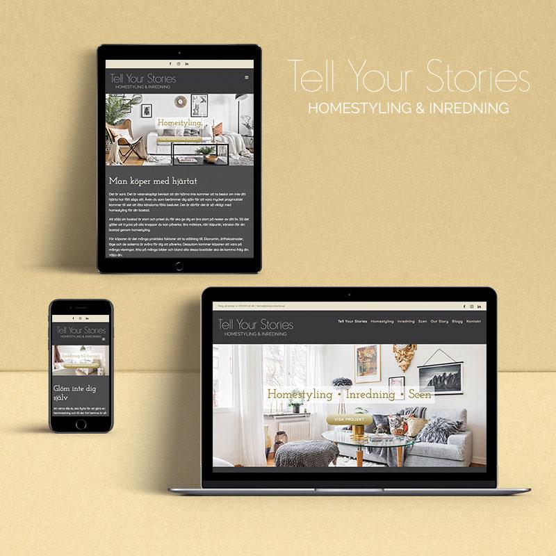 Tell Your Stories - Ny hemsida