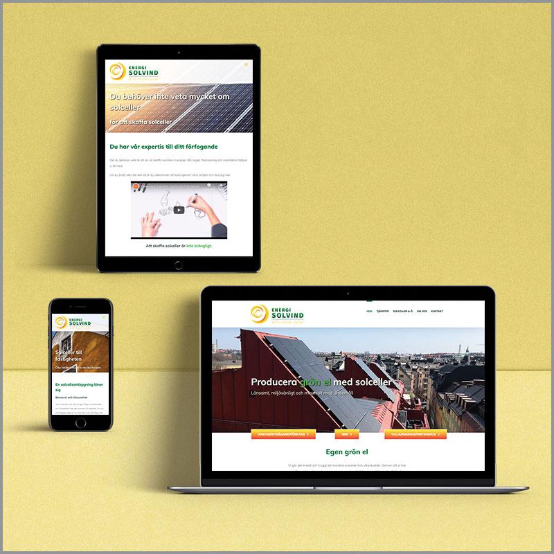 Energi Solvind hemsida
