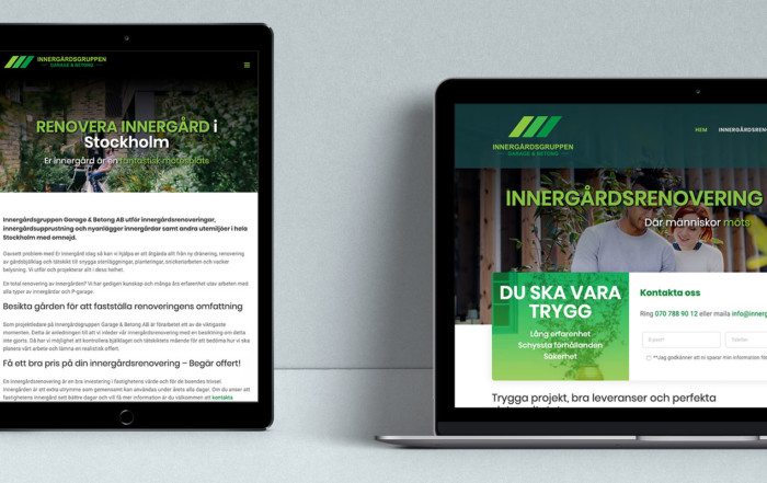 Innergårdsgruppen Website