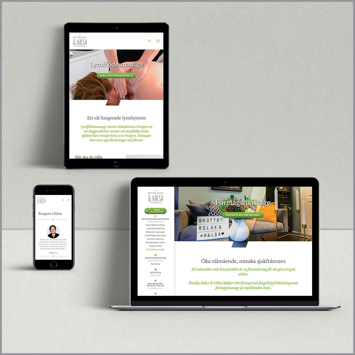 Brottby Relax & Hälsa hemsida